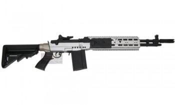 CYMA M14 EBR Silver AEG (Full Metal) M14 Ebr Silver
