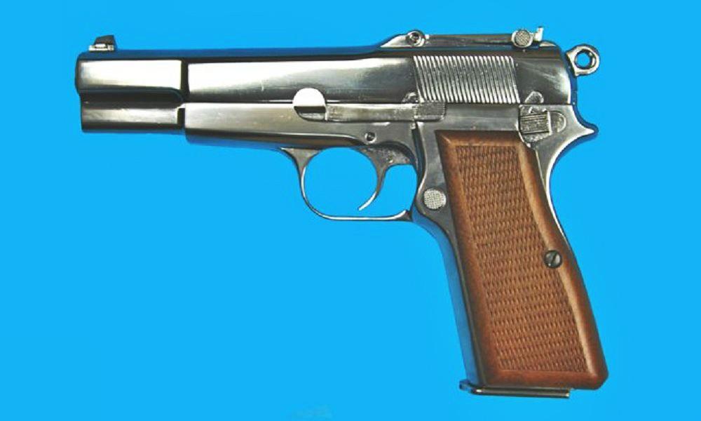 We Browning Hi Power M1935 No Markings Silver