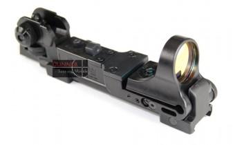 ACM C-Mor Reflex sight with M4 rear sight