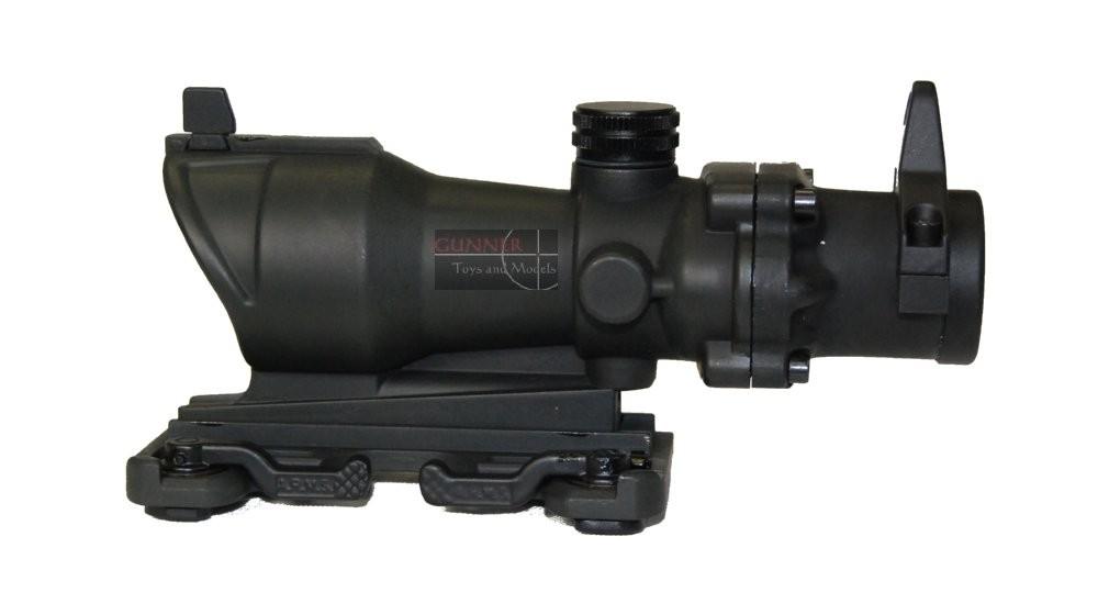 Acm replica acog 4x32 with iron sight black